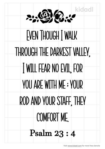 psalm-23-4-stencil