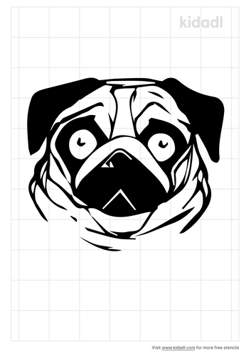 pug-face-stencil