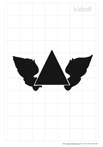 pyramid-with-wings-stencil