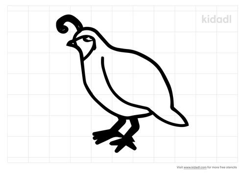 quail-outline-stencil
