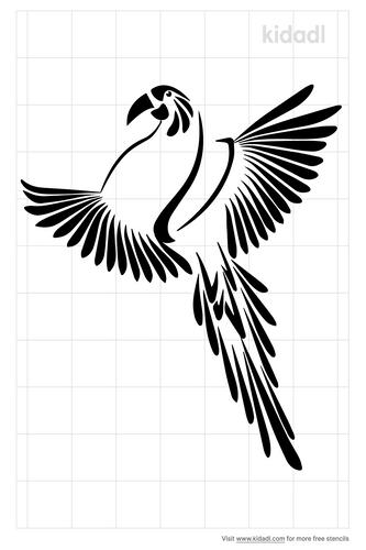 quetzal-bird-stencils