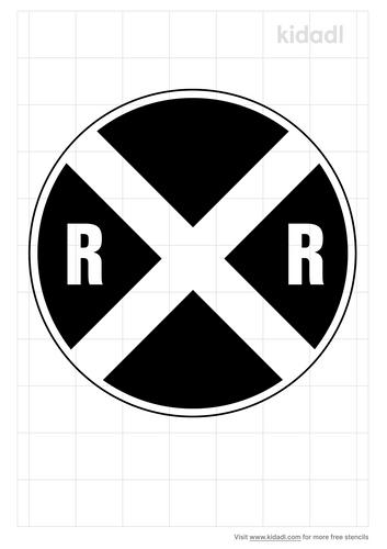 railroad-crossing-sign-stencil