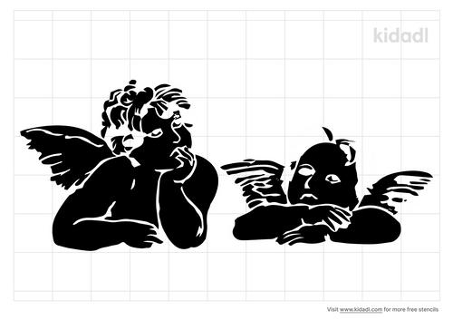 raphael-s-angels-stencil