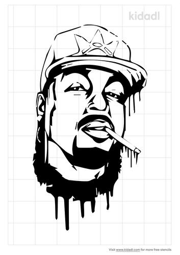 rapper-daz-stencil