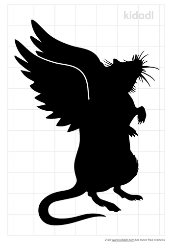rat-with-angel-wings-stencil
