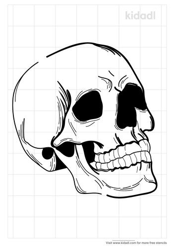 realistic-skull-tattoo-stencil