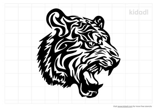 realistic-tiger-tattoo-stencil