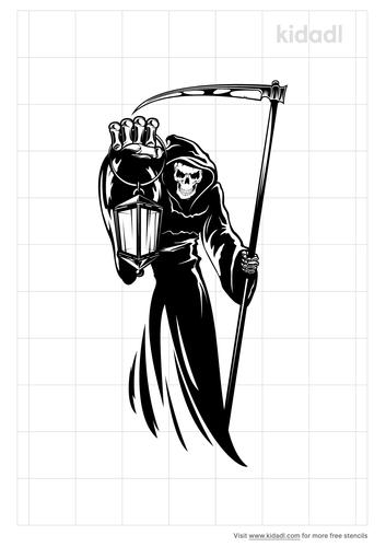 reaper-tattoo-stencil