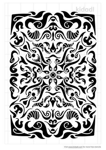 rectangle-mandala-stencil