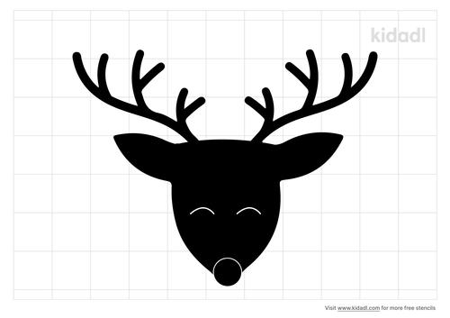 reindeer-face-stencil