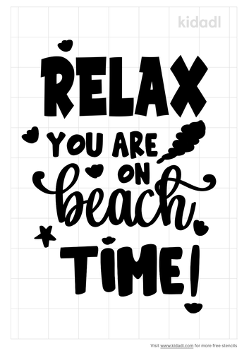 relax-youre-on-beach-time-stencil