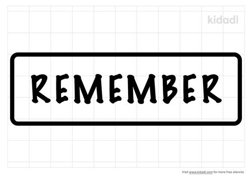 remember-stencil
