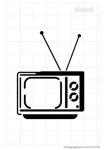 retro-television-stencil