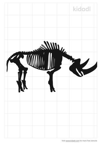 rhinoceros-skeleton-stencil