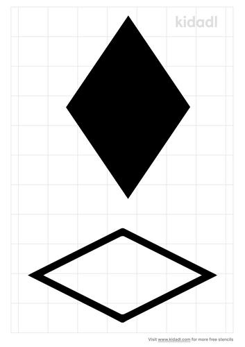 rhombus-stencil