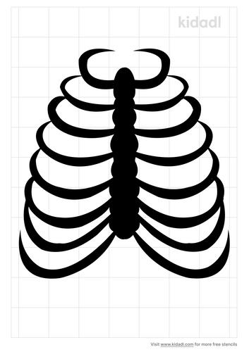 rib-cage-stencil