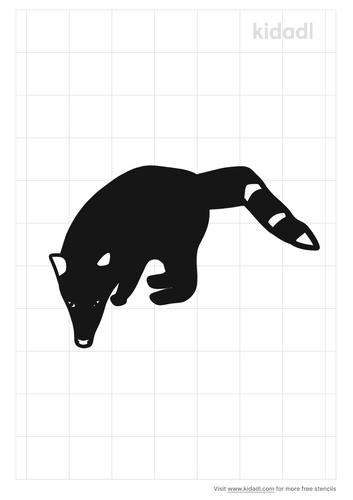 ring-tailed-coati-stencil