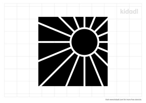 rising-sun-stencil