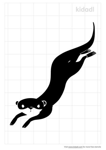 river-otter-stencil