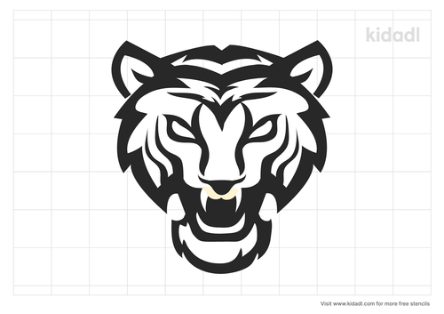 roaring-tiger-face-stencil