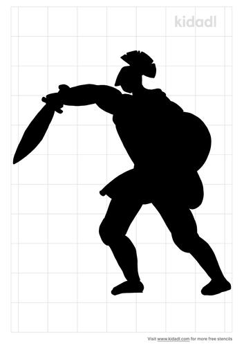 roman-warriors-fighting-stencil