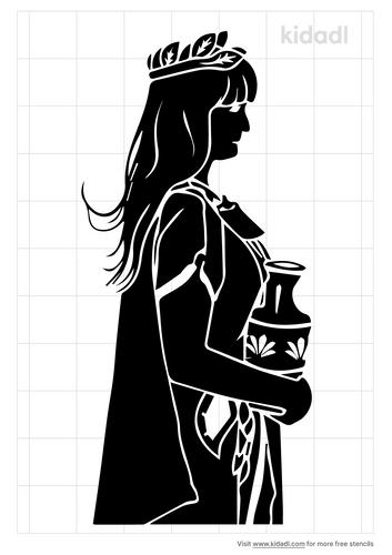 roman-woman-stencil