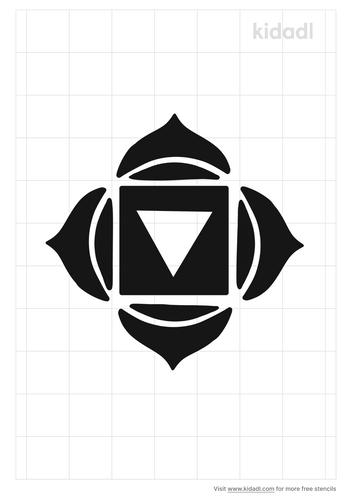 root-chakra-stencil