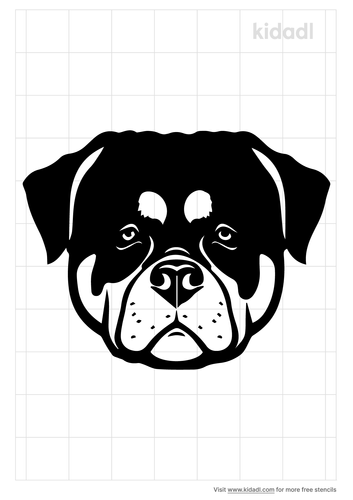 rottweiler-head-stencil