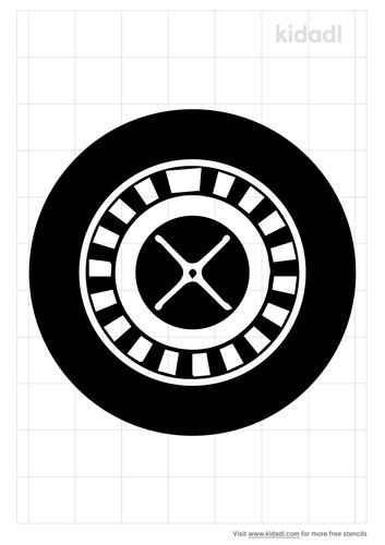 roulette-wheel-stencil