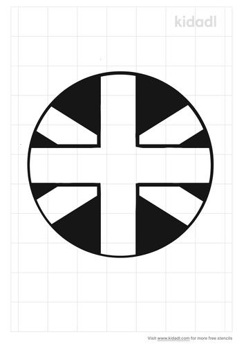 round-flag-stencil