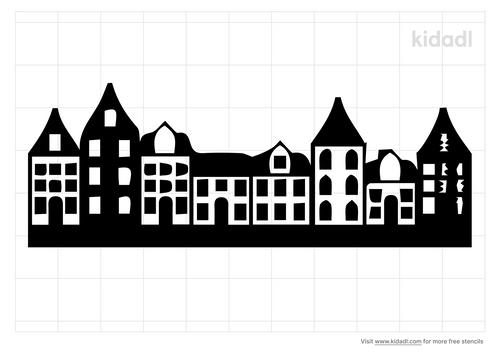 row-home-stencil
