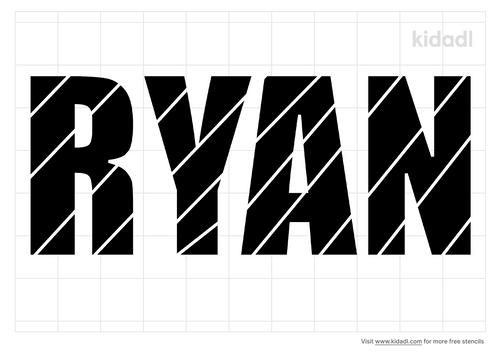 ryan-name-stencil