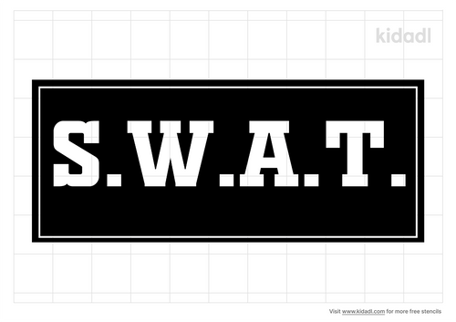 s-w-a-t-stencil