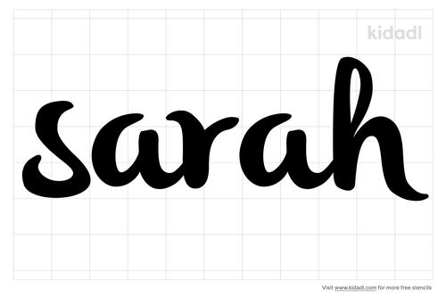 sarah-stencil