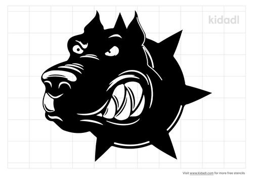 scary-dog-stencil