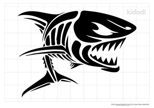 scary-skeleton-shark-stencil