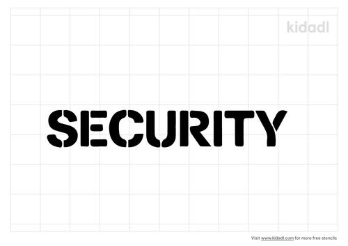 security-stencil
