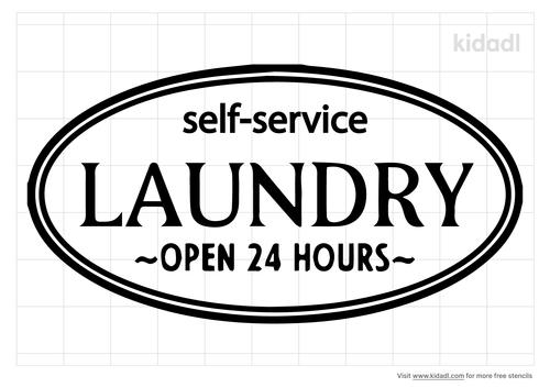 self-service-laundry-stencil