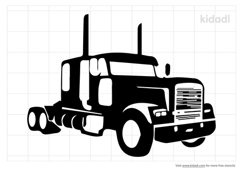 semi-truck-stencil