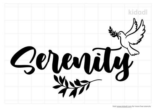 serenity-logo-stencil