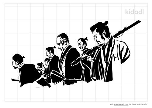 seven-samurai-stencil