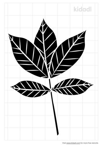 shagbark-hickory-leaf-stencil