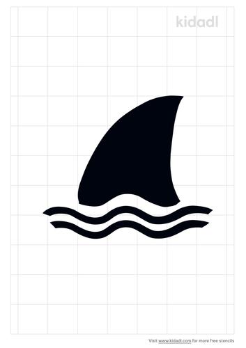 shark-fin-stencil