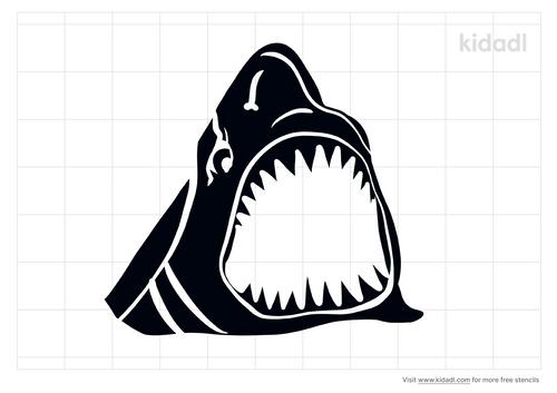 shark-jaw-stencil
