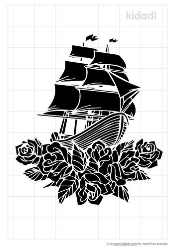 ship-flowers-stencil