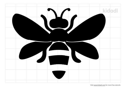 simple-bee-stencil