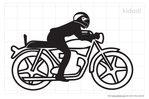 simple-biker-stencil