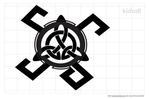 simple-celtic-knot-stencil
