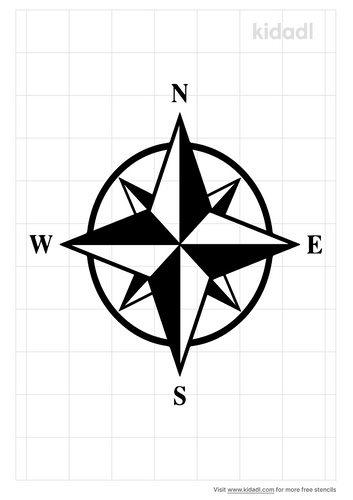 simple-compass-rose-stencil