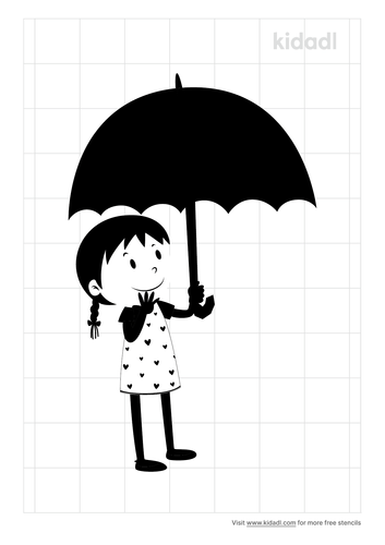 simple-of-girl-holding-umbrella-stencil.png